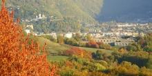 Vue sur le fort du Villard et la ville d'Albertville